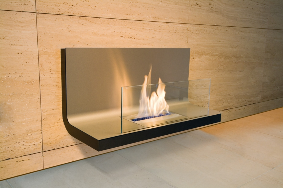 WALL FLAME STAINLESS STEEL BLACK