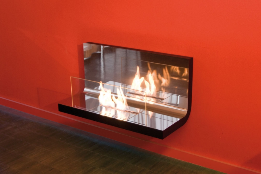 WALL FLAME POLISHED BLACK