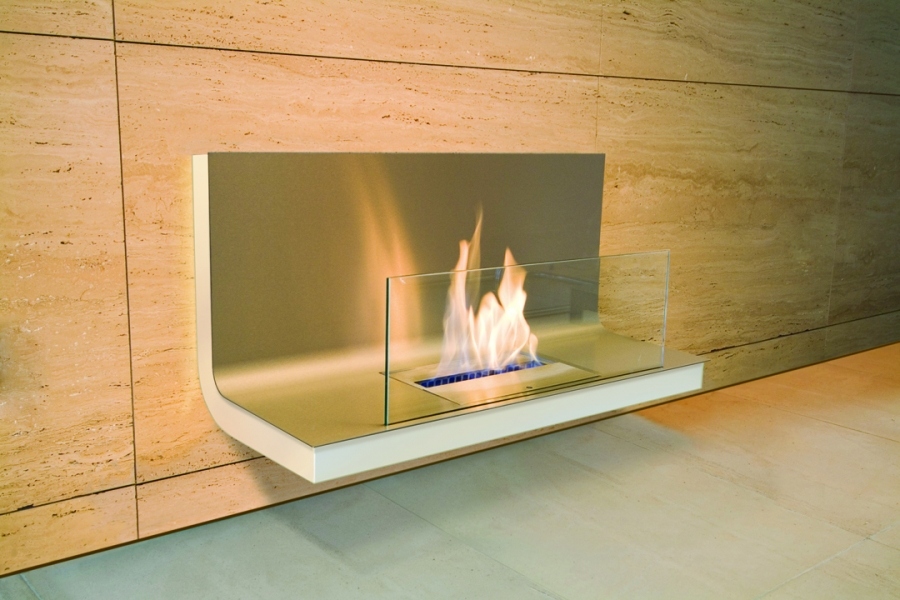 WALL FLAME STAINLESS STEEL WHITE