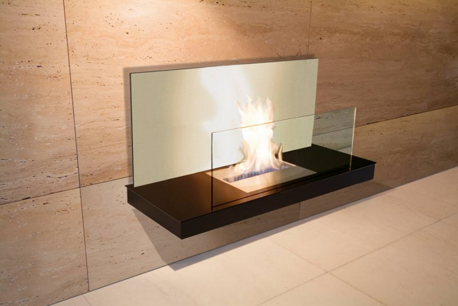 Wall Flame II Steel Black