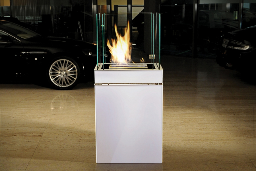 SEMI FLAME 3L STAINLESS STEEL/WHITE