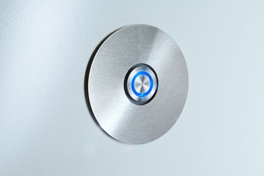 DOOR BELL SWITCH RADIUS BLUE