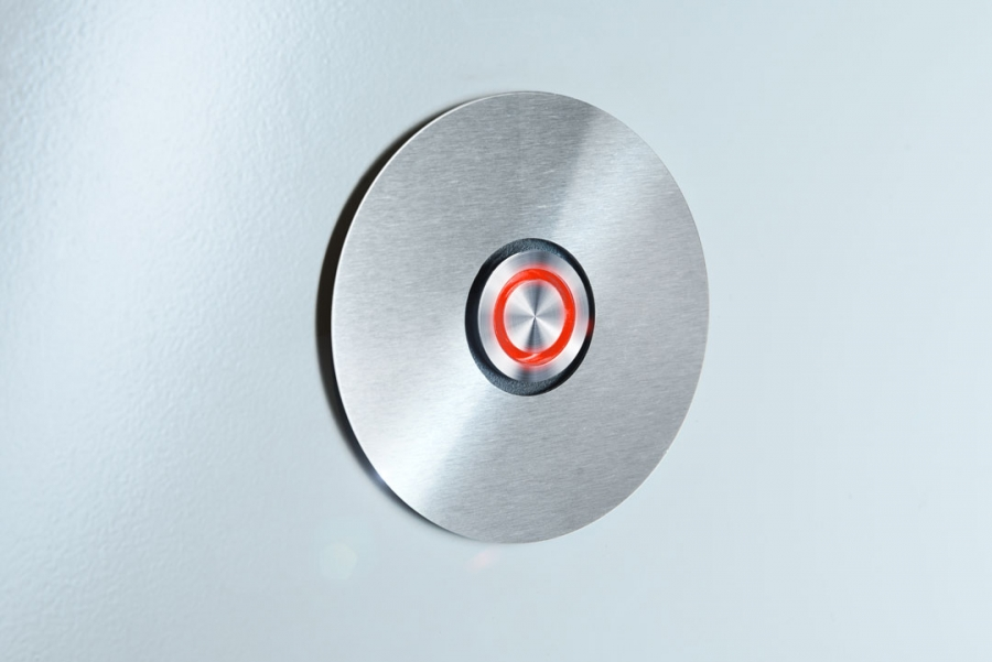 DOOR BELL SWITCH RADIUS RED