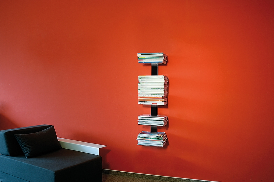 BOOKSBAUM MAGAZINE WALL SMALL BLACK