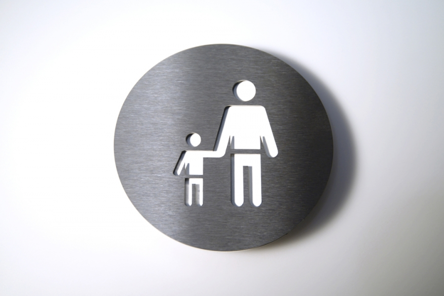 PICTOGRAM ADULT/CHILD WHITE