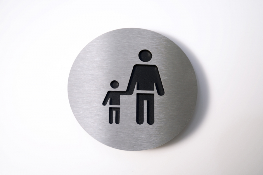 PICTOGRAM ADULT/CHILD BLACK