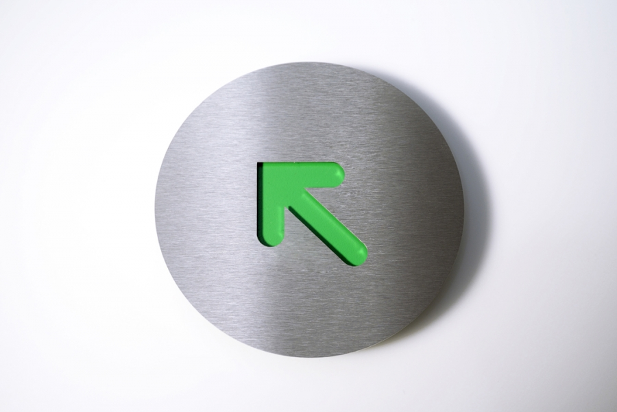 PICTOGRAM LEFT CORNER GREEN