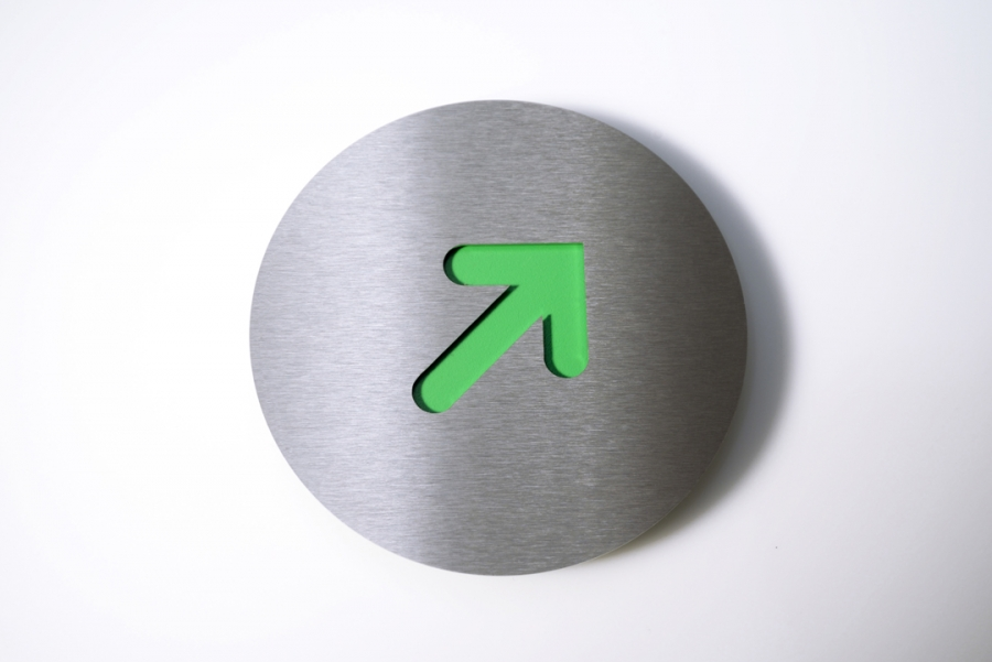 PICTOGRAM RIGHT CORNER GREEN