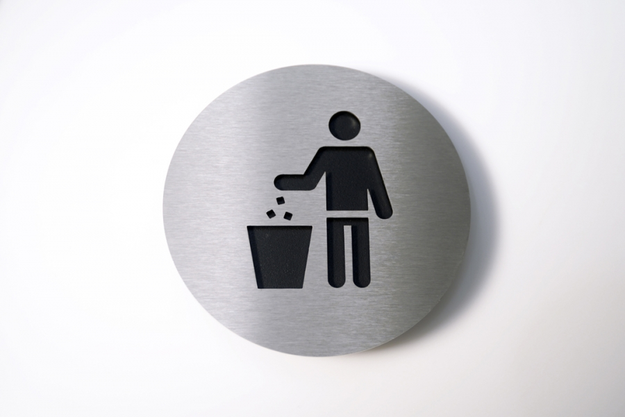 PICTOGRAM TRASH BLACK
