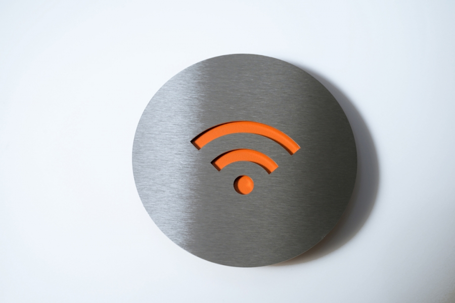 PICTOGRAM WIFI ORANGE
