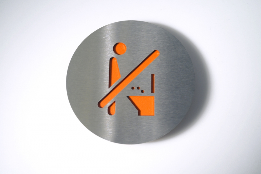 PICTOGRAM NO PEE ORANGE