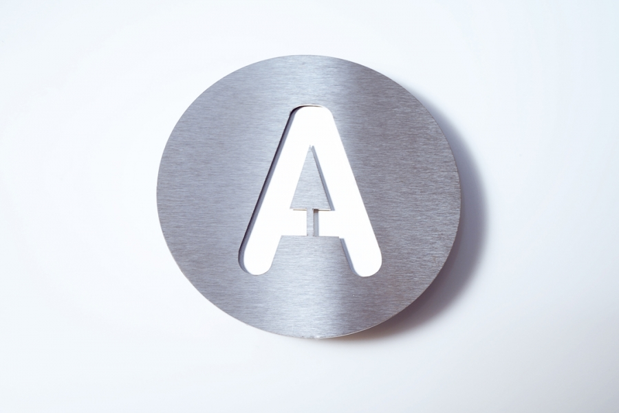 LETTER A CAPITAL WHITE