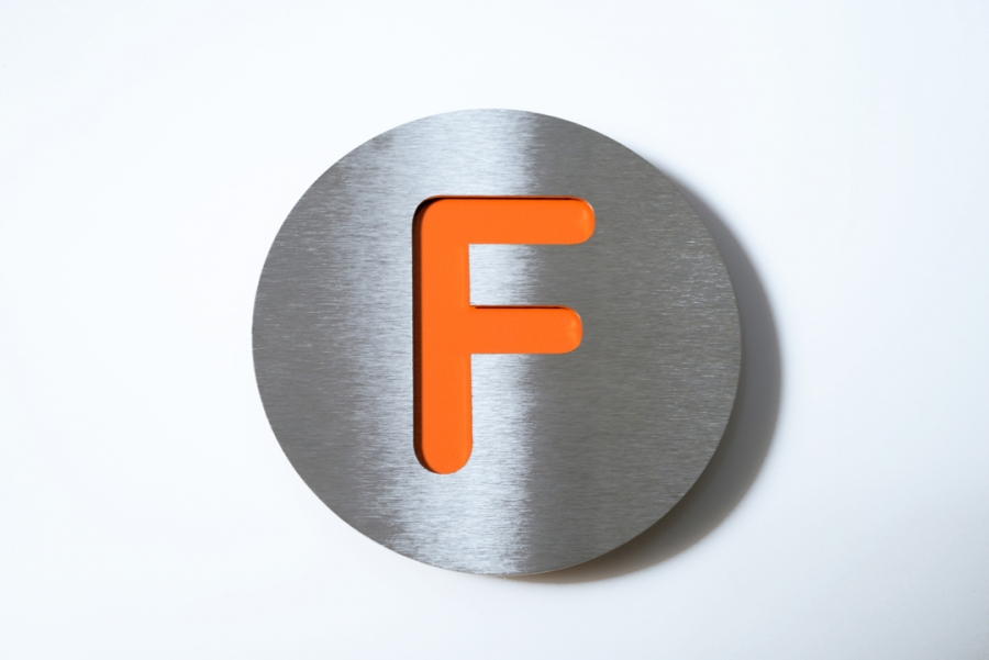 BUCHSTABE GR. F ORANGE