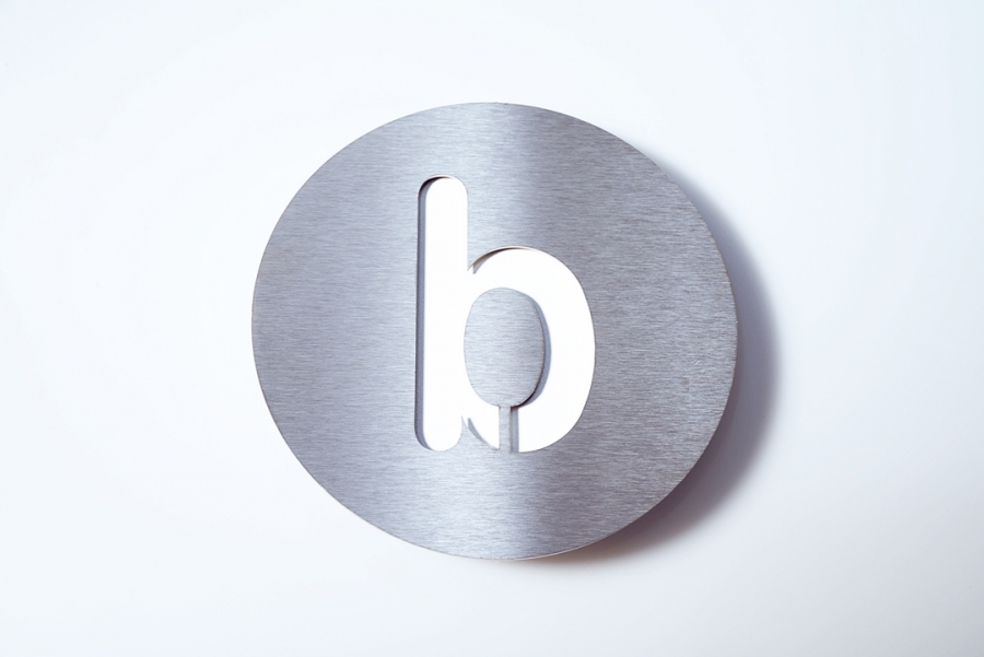LETTER B SMALL WHITE