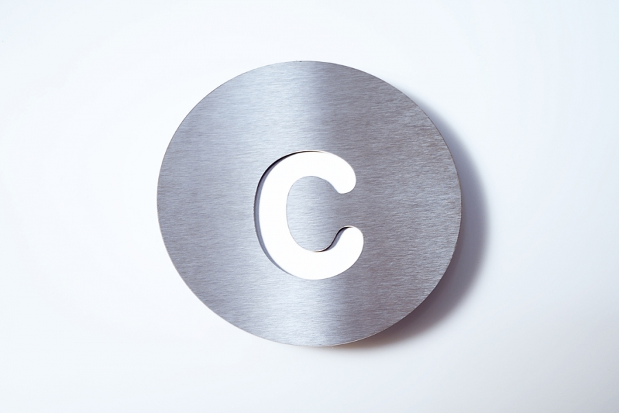 LETTER C SMALL WHITE