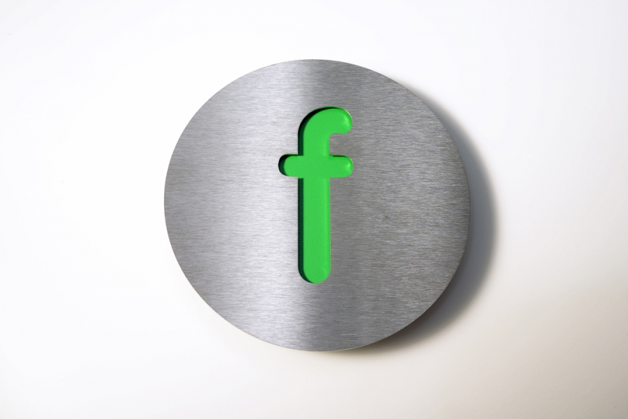 LETTER F SMALL GREEN
