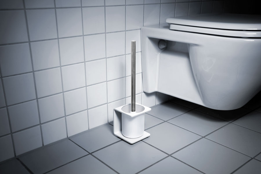 TOILET BRUSH HOLDER WHITE