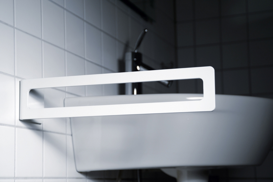 TOWEL HOLDER WHITE - ADHESIVE