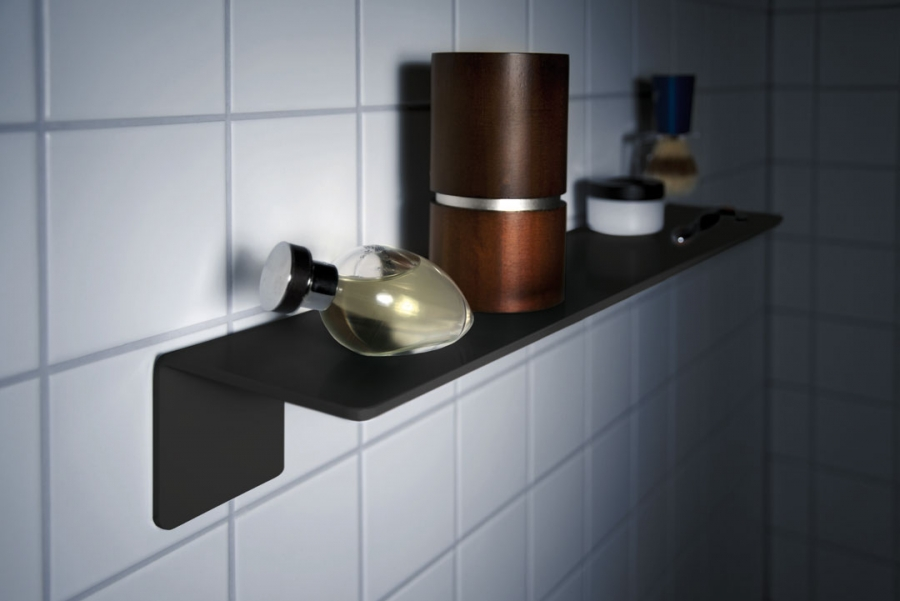 BATHROOM SHELF BLACK