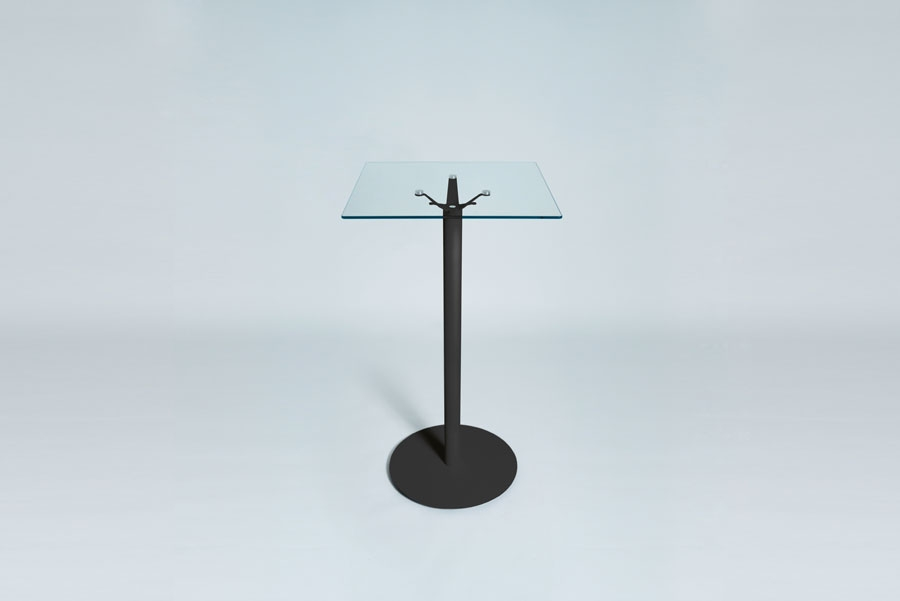 TABLEDANCE STANDING TABLE, GLASS, BLACK