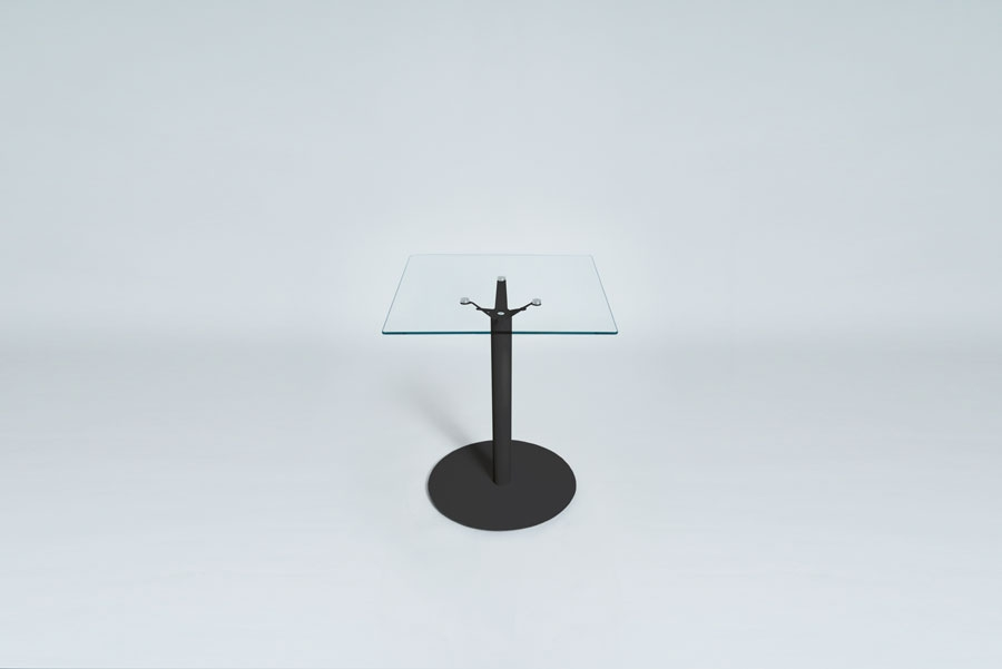 TABLEDANCE BISTRO TABLE, GLASS, BLACK