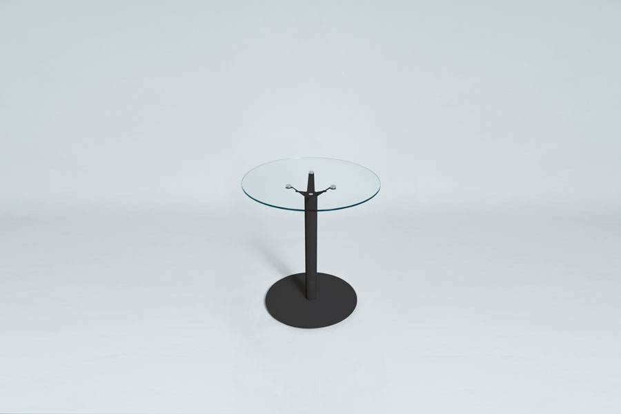 TABLEDANCE BAR TABLE, GLASS, BLACK