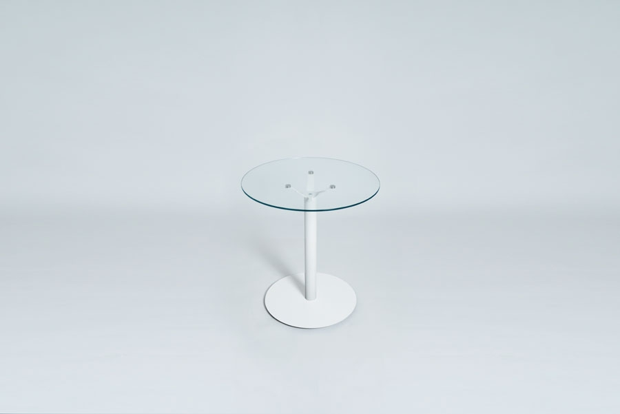 TABLEDANCE BAR TABLE, GLASS, WHITE