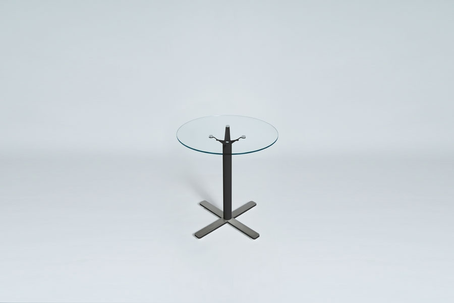 TABLEDANCE BAR TABLE, GLASS, BLACK VA