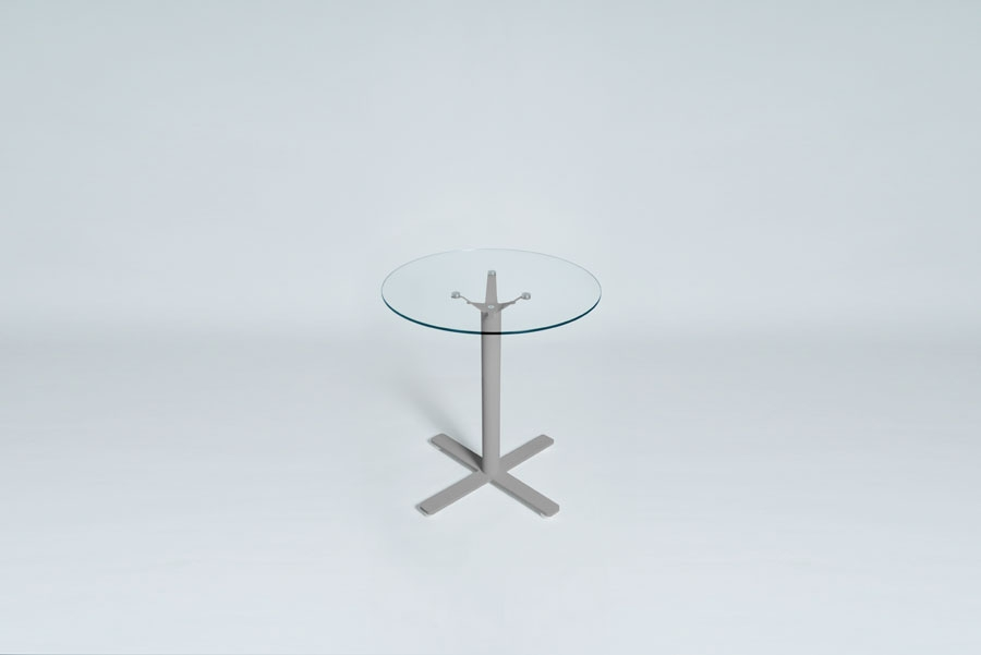 TABLEDANCE BAR TABLE, GLASS, SILVER