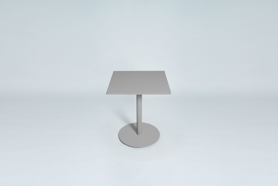TABLEDANCE BAR TABLE, MDF, SILVER