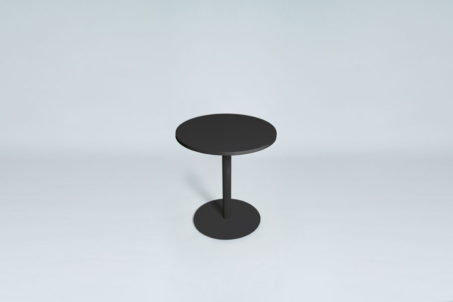 TABLEDANCE BAR TABLE, MDF, BLACK, ROUND