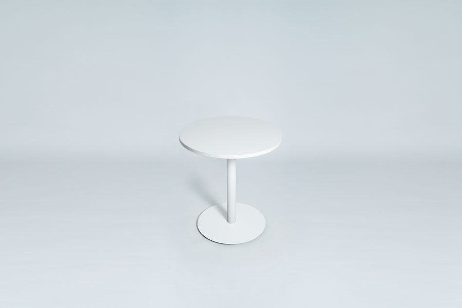 TABLEDANCE BAR TABLE, MDF, WHITE, ROUND