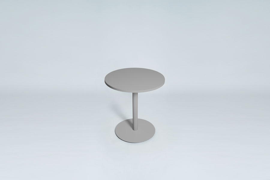 TABLEDANCE BAR TABLE, MDF, SILVER, ROUND
