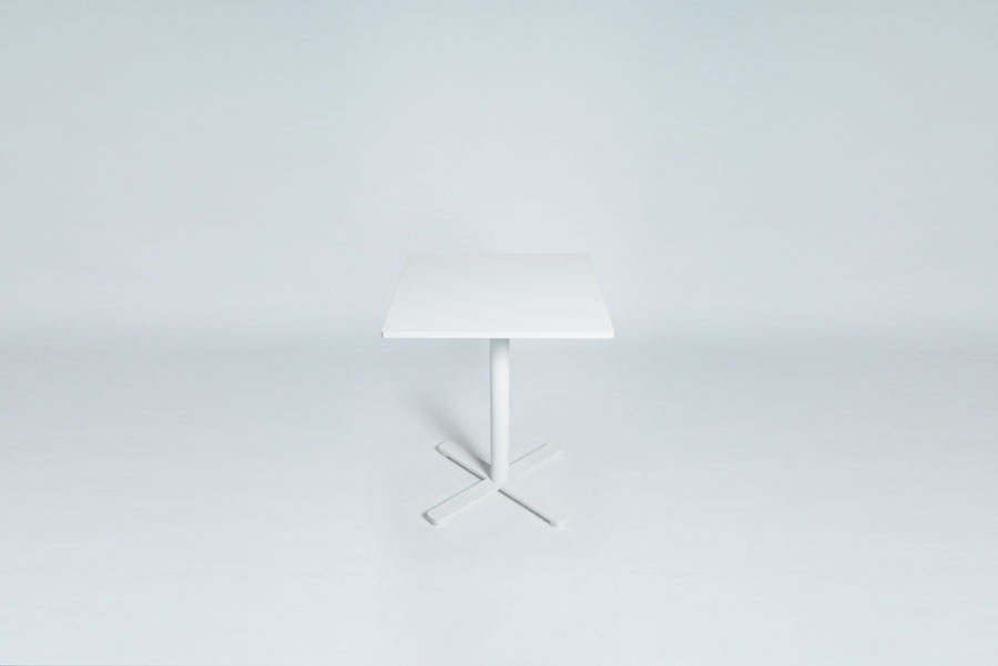 TABLEDANCE BAR TABLE, MDF, WHITE, SQUARE