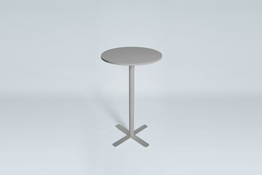 TABLEDANCE STANDING TABLE, MDF, SILVER