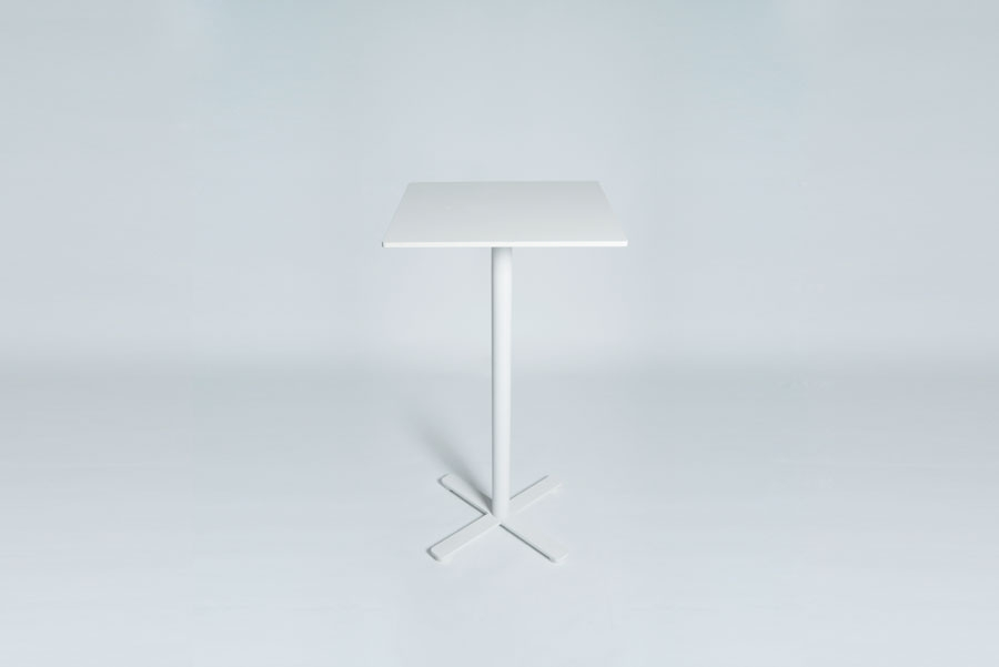 TABLEDANCE STANDING TABLE, HPL, WHITE SQ