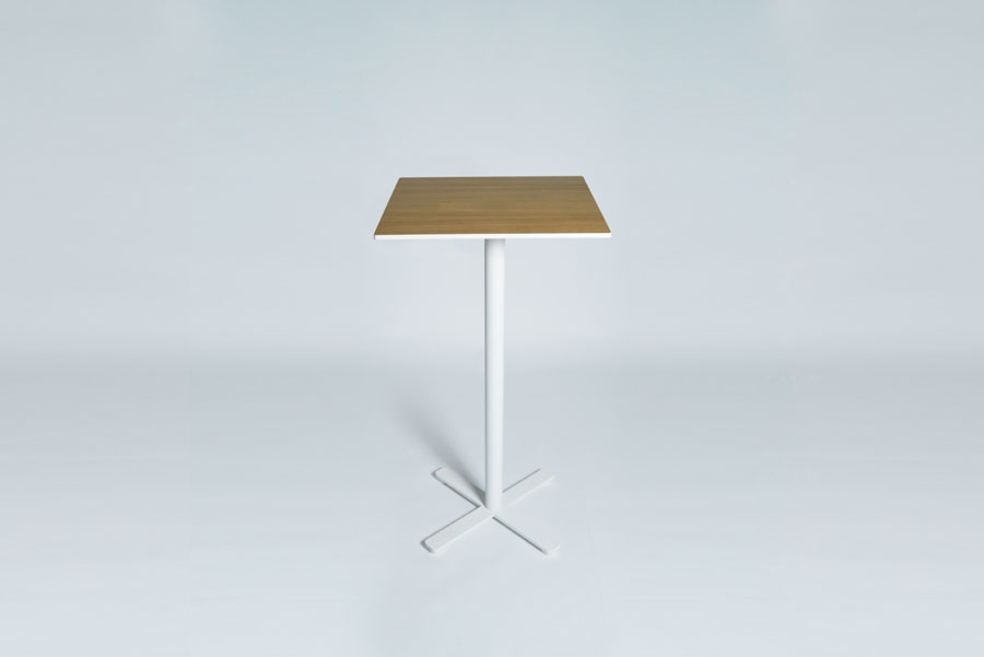 TABLEDANCE STANDING TABLE, HPL, OAK, SQ.