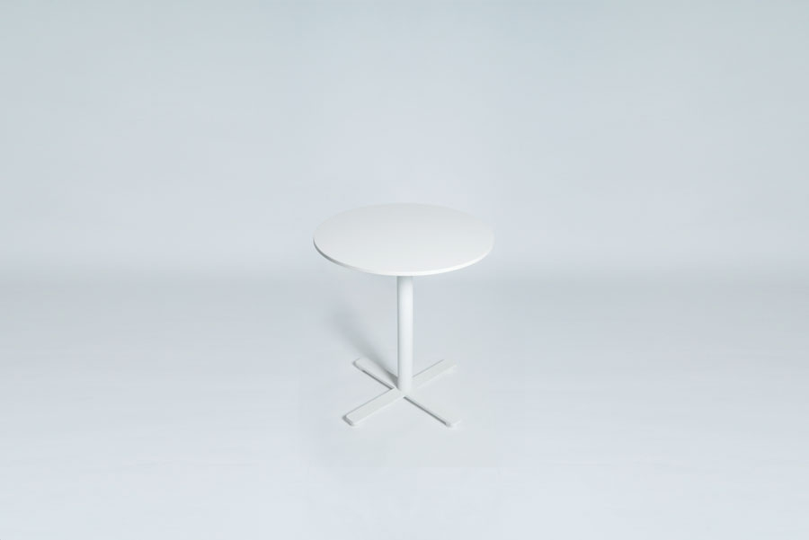 TABLEDANCE BAR TABLE, HPL, WHITE, ROUND