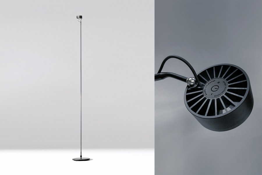 BASICA FLOOR LIGHT BLACK 163 CM