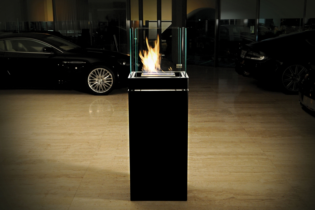 bio ethanol kamin high flame 3 liter hochglanz schwarz. Black Bedroom Furniture Sets. Home Design Ideas