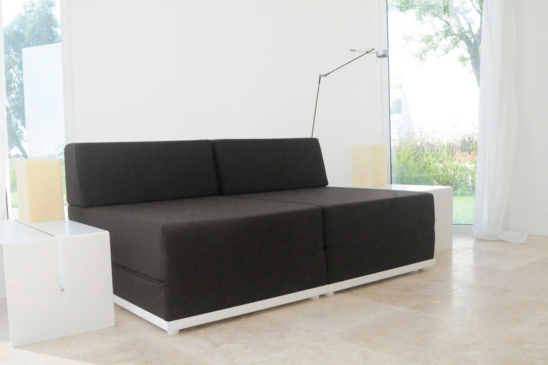 Sofa Bed 4 Inside Out Anthracite Radius Design