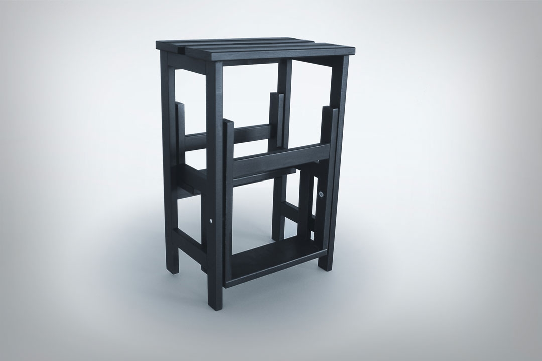 Stool Ladder Black Radius Design